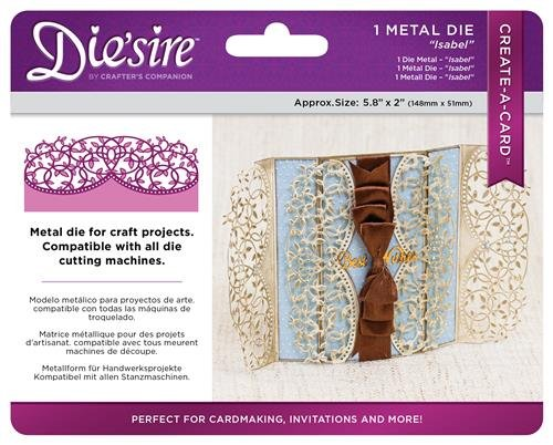 Create-a-Card DS-Cad-ISA Isabel Die'Sire Dies: Metal, Multicolor