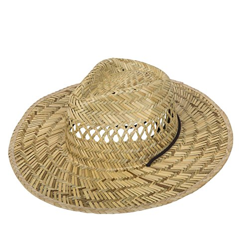 Midwest Gloves & Gear Mens Outdoor Work or Garden Straw Hat, 48 (Trim Hat Bucket)