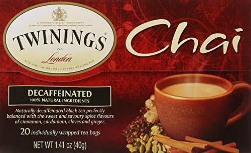 (Twinings of London Decaffeinated Chai Tea Bags, 20 Count)
