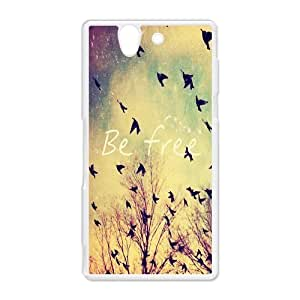 Be Free!A Symbol of Freedom Be Free Bird Charm Personality luxury cover case for Sony L50 Z2(Black)ALL MY DREAMS by supermalls