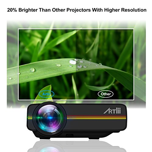 Artlii Portable Hd Home Theater Support 1080p Lcd: Home Theater,Artlii LED Mini Video Iphone Projector 1200