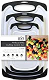 black and white kitchen Raj Plastic Cutting Board Reversible Cutting board, Dishwasher Safe, Chopping Boards, Juice Groove, Large Handle, Non-Slip, BPA Free, FDA Approved (3 Piece Set, White/Black)