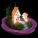 Light-up Fairy Garden Kit - Create, Plant & Grow a Magical Enchanted Light-up Fairy World - Everything Included - Great Craft STEM Gift for Kids