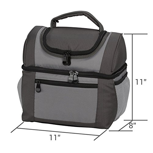 Large Dual Compartment Insulated Lunch Bag Lunchbox