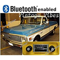 Bluetooth Enabled 67-72 Chevy Truck 300w Slidebar AM FM Car Stereo/Radio