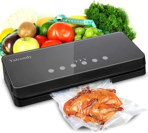 Vacuum Sealer Machine, Automatic Food Sealer Sealing System For Food Saver with Cutter for Food Preservation, Starter Kit for Sous Vide Dry Moist Food Modes