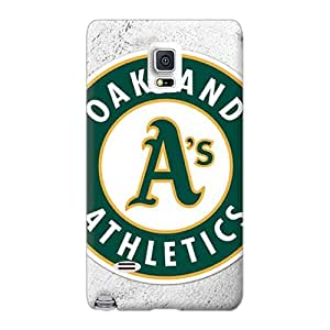 JacquieWasylnuk Samsung Galaxy Note 4 Shock Absorption Hard Cell-phone Case Custom Lifelike Oakland Athletics Pictures [Are7253PqZi]
