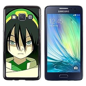 // PHONE CASE GIFT // Duro Estuche protector PC Cáscara Plástico Carcasa Funda Hard Protective Case for Samsung Galaxy A3 / Asian Girl /