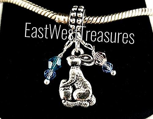 EWT Easter Basket, Easter bunny, Swarovski crystal Easter Eggs charm pendant for Brand & designer charm bracelets and all necklace