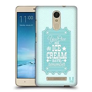 Head Case Designs Fecha De Helado Boleto Querido Caso Duro Trasero para Xiaomi Redmi Note 3