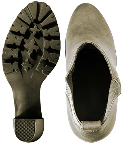 Elara Ankle Boots   Botines moderna Mujer   Block tacón Plateau   chunkyr ayan Khaki Hampton