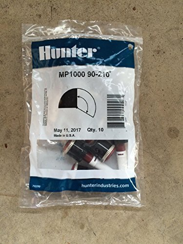 Pack of 10pcs, Hunter Sprinkler MP100090 MP Rotator, 8-Feet to 15-Feet Radius and Adjustable from 90-Degree to 210-Degree