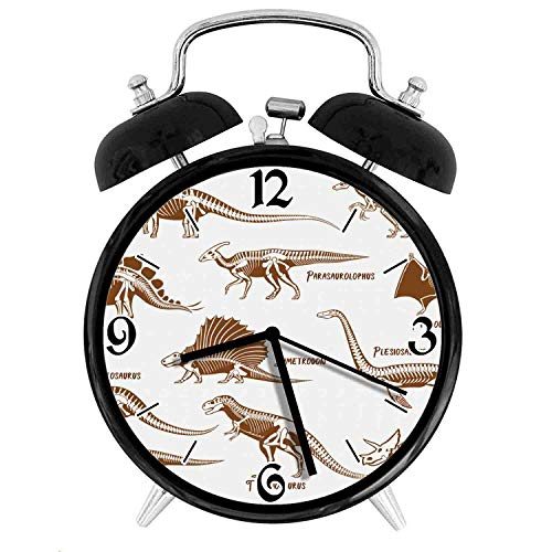 one-six-one Group of Dinosaurs Ancient Animals Triassic Period ReptilesDesk Clock Home Office Unique Decorative Alarm Ring Clock 4in (Dinosaurs Triassic Period)