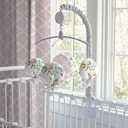 Carousel Designs Pink and Gray Primrose Mobile by Carousel Designs
