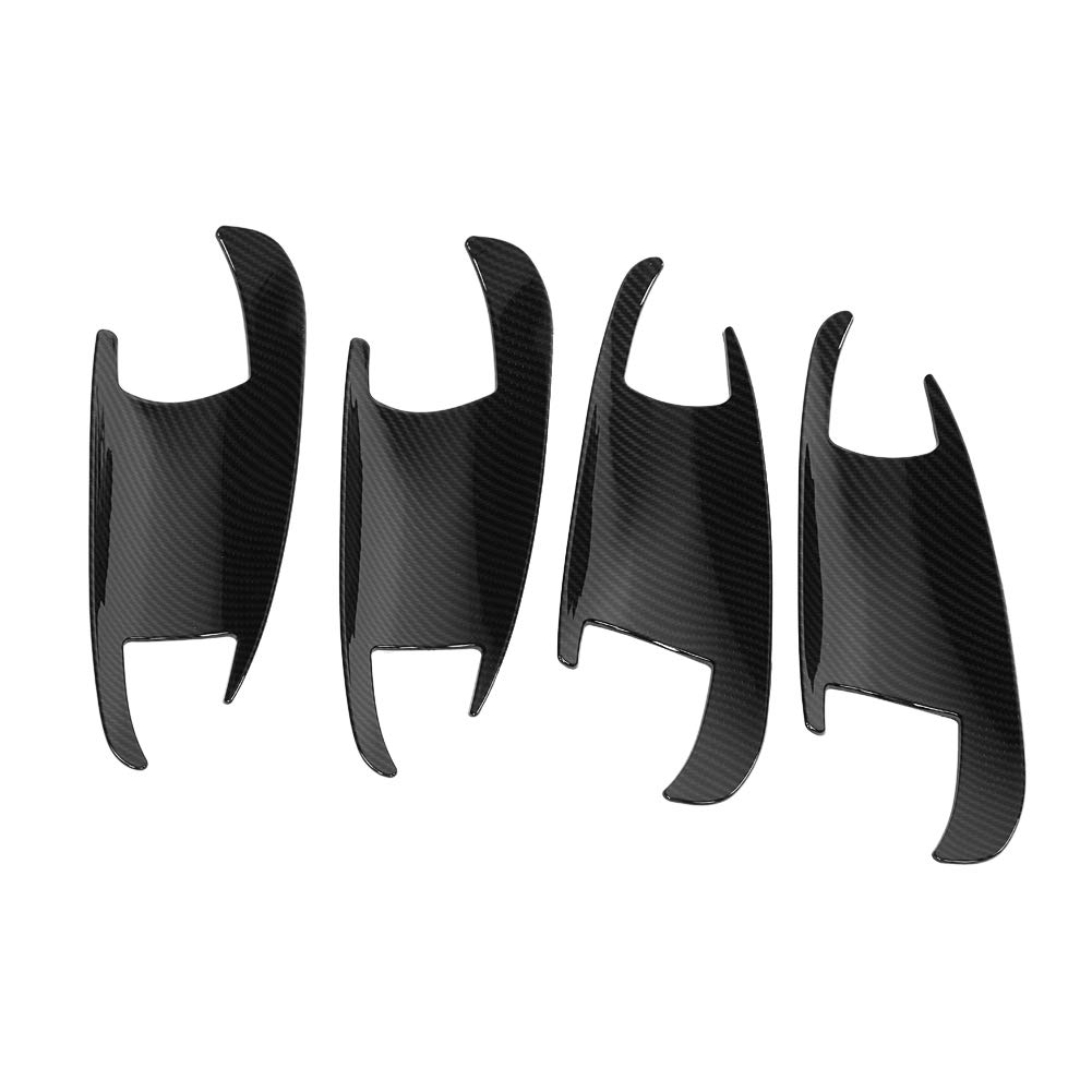 KIMISS Maniglia per porta stile Carbon Firber e copertura per coppa porta per Classe A B C