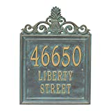"Custom Lanai Pineapple Estate Address Plaque 19""H (3 Lines)"