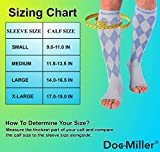 Doc Miller Open Toe Compression Socks 1 Pair
