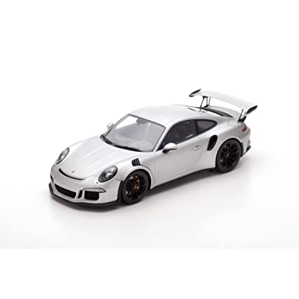 2016 Porsche 991 GT3 RS Silver 1/12 Model Car by Spark 12S008