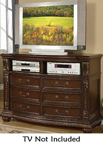 Acme Furniture Anondale Collection 10320 TV Console in Cherry by Acme Furniture