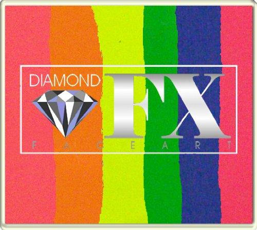 Diamond FX 50g Split Cake Face Paint ~ Colour Splash (RS50-24)