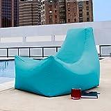 Jaxx Bean Bags Jaxx Juniper Indoor/ Outdoor Patio Bean Bag Chair lime stripes