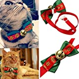 easyshop Christmas Adjustable Dog Puppy Cat Pet Bowtie Teddy Bow Tie Collar Necktie