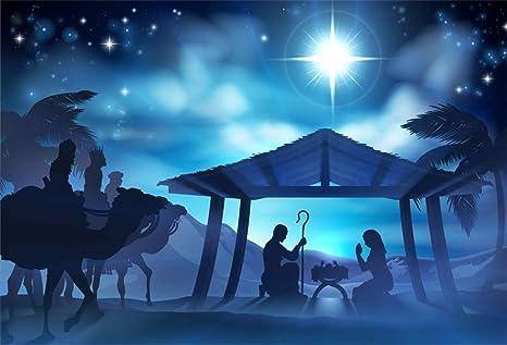 Christmas Background Christian.Aofoto 7x5ft Birth Of Jesus In Manger Background Christian Cathedral Church Backdrop Desert Christmas Christ Child Holy Mary Joseph Stable Nativity