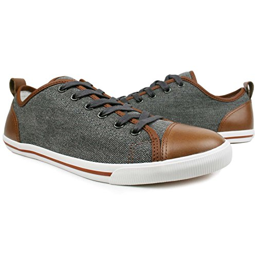 Burnetie Heren Ox Vintage Sneaker Light Carbon Black