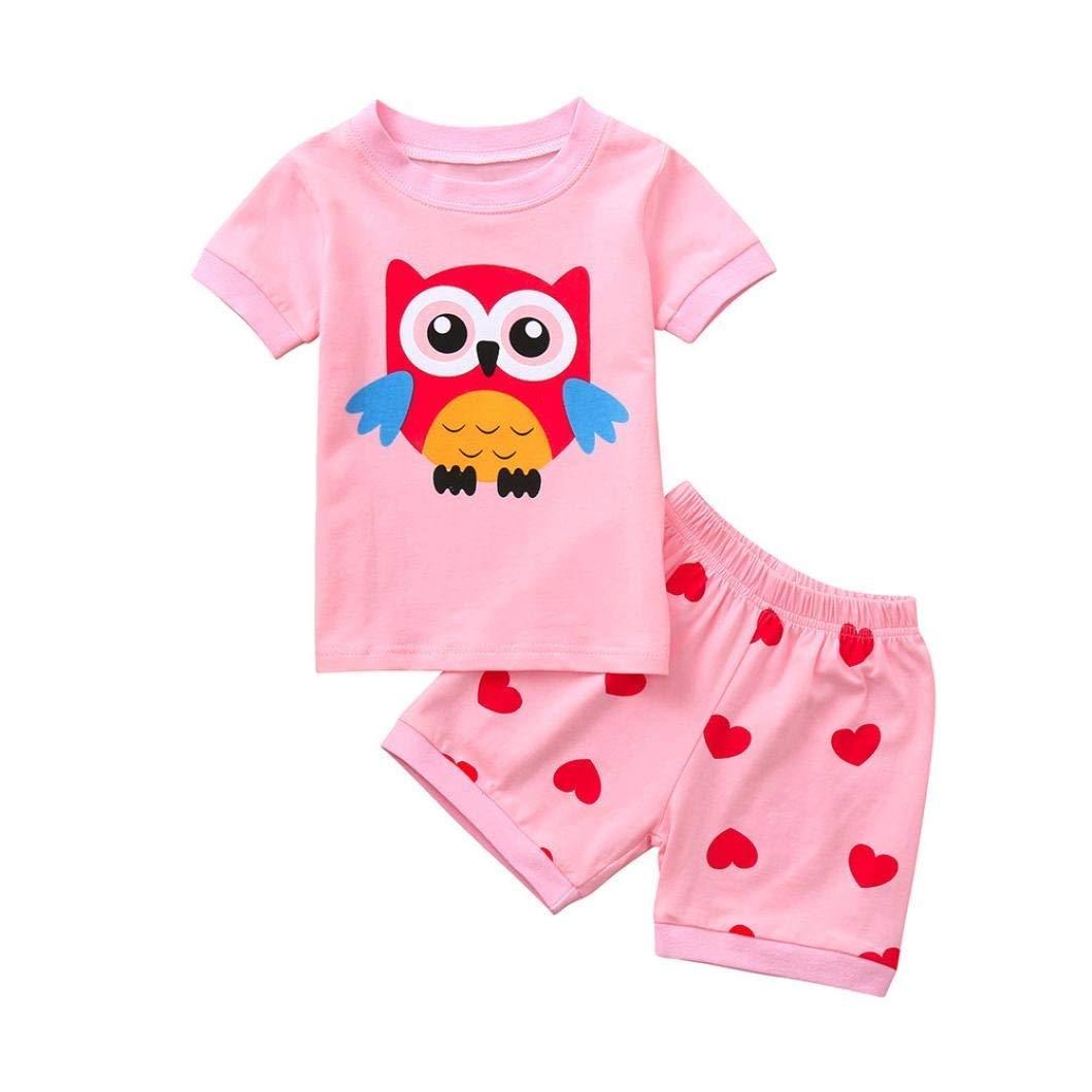 Toddler Baby Boys Bodysuit Short-Sleeve Onesie Creative Fish Print Outfit Summer Pajamas