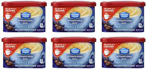 Maxwell House International Coffee Vanilla Bean Latte, 8.5-Ounce Cans (Pack of 6)