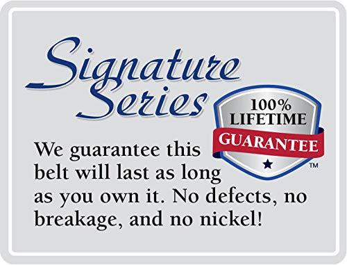 Nickel Smart Brown Genuine Full Grain Leather Belt with Nickel Free Titanium Buckle Roan Mountain Titanium Belt