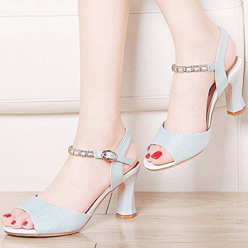 RUGAI-UE Heels High Heels Damen Sandalen Sommer Sommer Sommer High Heel Sandalen wenig frisches Frauen Schuhe. 30ac31