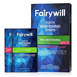 Fairywill Pro Teeth Whitening Strips, Dental Formula, Reduced Sensitive, Include Professional Effects White Strips and 1-Hour Express 3D Whitestrips Packs of 18 Strips