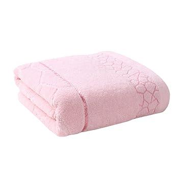 Suave Hotel/SPA toalla de baño, tamaño grande 100% algodón toalla, resistente la capacidad de absorción (rosa): Amazon.es: Hogar