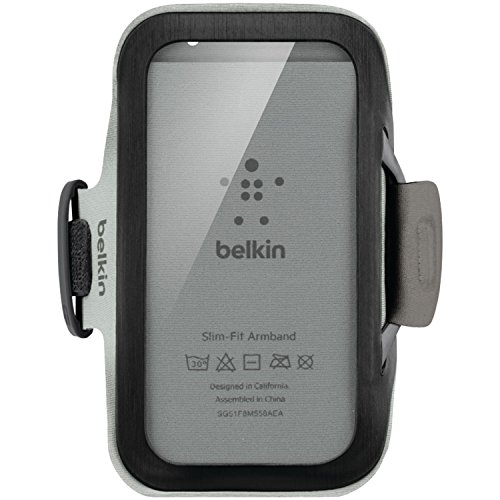 - Belkin Slim-Fit Armband with Cord Storage for Samsung Galaxy S4 (Black)
