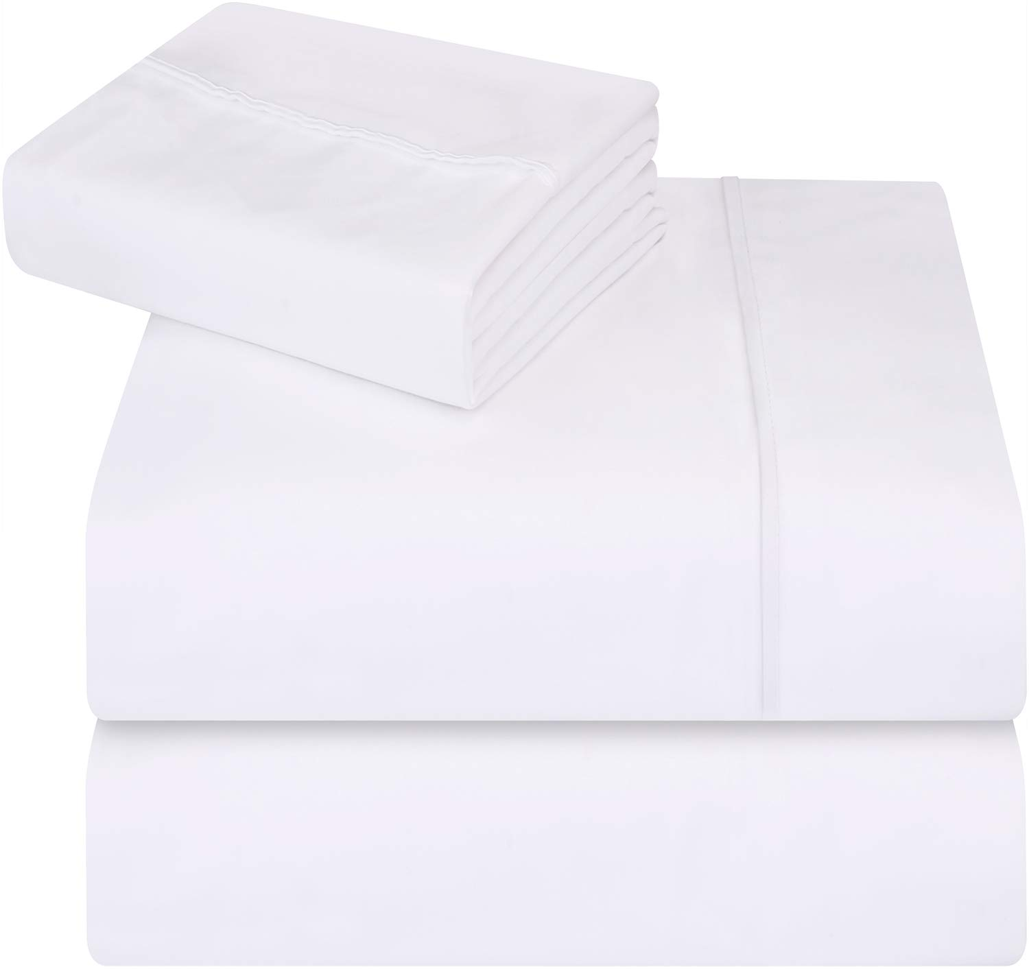 Utopia Bedding 3-Piece Twin Bed Sheet Set - Soft Brushed Microfiber Wrinkle Fade and Stain Resistant - White