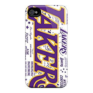High Quality LittleBox Los Angeles Lakers Skin Case Cover Specially Designed For Iphone - 4/4s