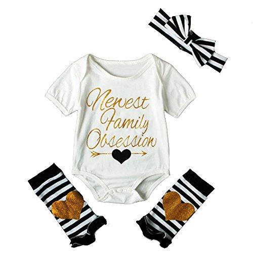 2pcs Baby Boy Girl USA Flag Stars Stripes Pompom Tassel Balls Romper/Arrow Print Romper+Headband