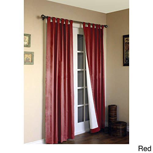 Pine Canopy - Pine Canopy Weathermate Insulated Cotton Curtain Panel Pair Red 84 x 80 84 Inches