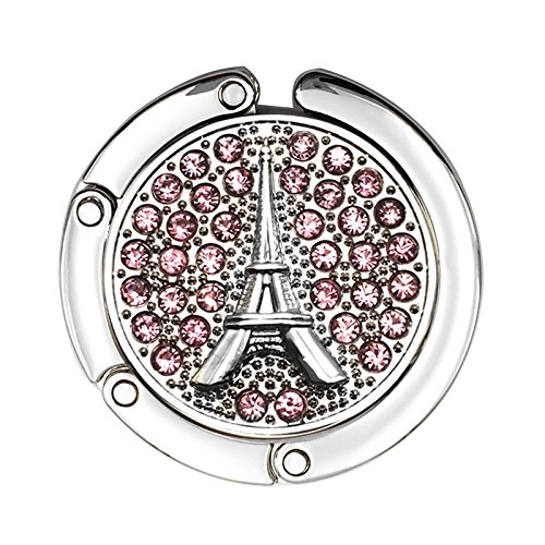 Handbag Eiffel Tower Accent Table Hook Purse Hanger (Pink)