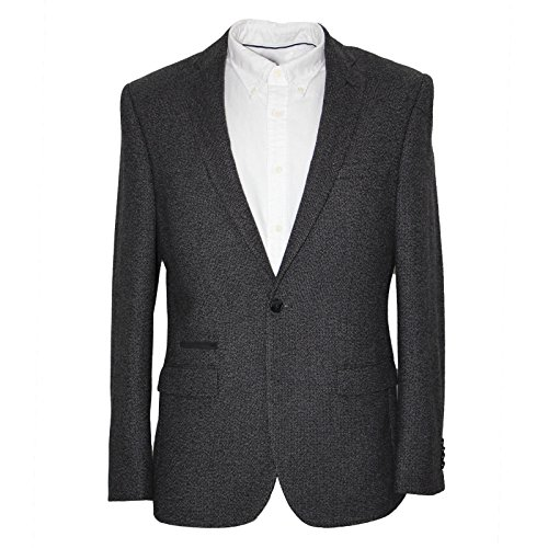 Harry Brown Charcoal Wool Blend Tailored Fit Blazer 40R
