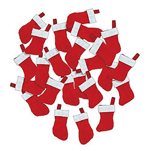 Mini Christmas Stockings - 24 pcs -