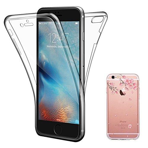 iPhone 6 Plus Hülle , ivencase iPhone 6 Plus Soft Flex Silikon Handyhülle Ultra Dünn Schlank Bumper-Style Case Cover Kratzfest TPU , Komplettschutz Vorder und Rückseiten , für Apple iPhone 6 Plus/6S P