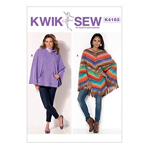 KwikSew Damen Schnittmuster 4193nbsp;Lace up amp; Kapuzen Poncho ...