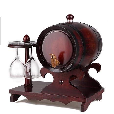 AHB Barriles de Roble de 5 litros, dispensador de Vino/Cerveza, Cubo de