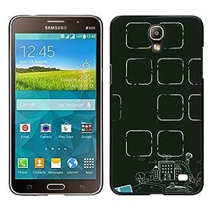EJOY---Cubierta de la caja de protección para la piel dura ** Samsung Galaxy Mega 2 ** --Maestro Aula Verde School