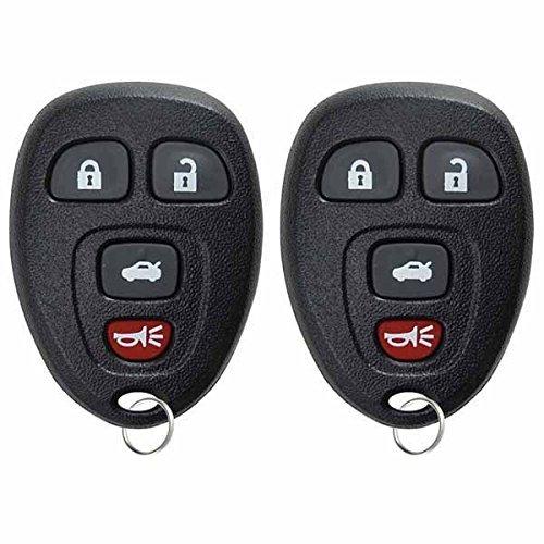 キーレスオプション 交換用 4ボタン キーレスエントリー リモートコントロール キーフォブ ブラック KPT2513 B00KTHRDB8 ブラック