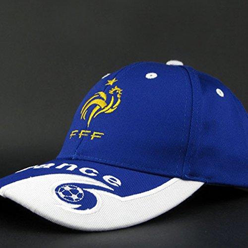 Unisex de para País Fans de de Algodón Bordado Béisbol del Béisbol del Rocita France Sombrero Gorro Ajustable Fútbol qAOXtt
