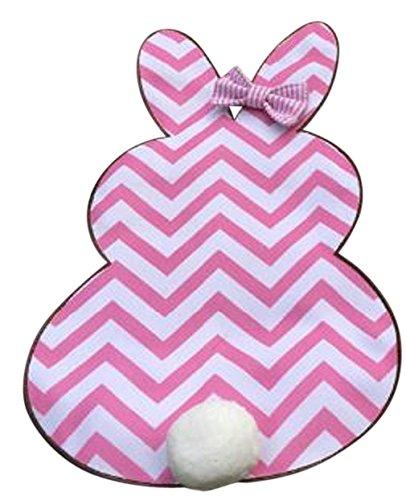 Jolly Jon Happy Easter Garden Flag - Bunny Rabbit Shape with