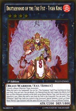 Brotherhood of the Fire Fist-Tiger King PGLD-EN045 Gold Rare 1st Ed